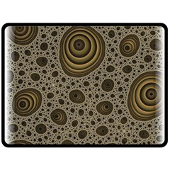 White Vintage Frame With Sepia Targets Double Sided Fleece Blanket (large)  by Nexatart