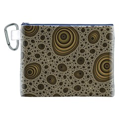 White Vintage Frame With Sepia Targets Canvas Cosmetic Bag (xxl) by Nexatart