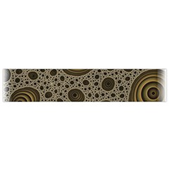 White Vintage Frame With Sepia Targets Flano Scarf (small) by Nexatart