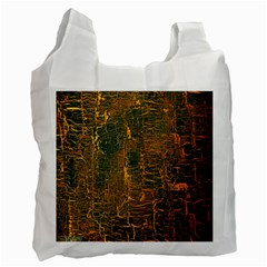 Black And Yellow Color Recycle Bag (two Side)  by Nexatart