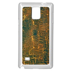 Black And Yellow Color Samsung Galaxy Note 4 Case (White)