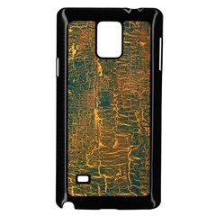 Black And Yellow Color Samsung Galaxy Note 4 Case (black)