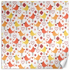 Happy Birds Seamless Pattern Animal Birds Pattern Canvas 12  X 12   by Nexatart