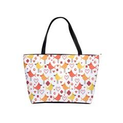 Happy Birds Seamless Pattern Animal Birds Pattern Shoulder Handbags by Nexatart