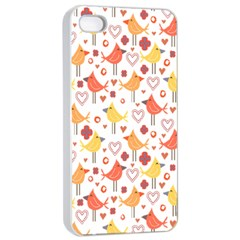 Happy Birds Seamless Pattern Animal Birds Pattern Apple Iphone 4/4s Seamless Case (white)