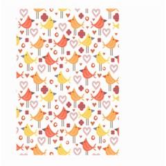 Happy Birds Seamless Pattern Animal Birds Pattern Large Garden Flag (two Sides) by Nexatart