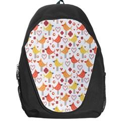 Happy Birds Seamless Pattern Animal Birds Pattern Backpack Bag by Nexatart