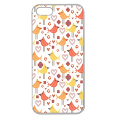 Happy Birds Seamless Pattern Animal Birds Pattern Apple Seamless Iphone 5 Case (clear)