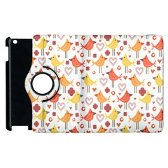 Happy Birds Seamless Pattern Animal Birds Pattern Apple Ipad 3/4 Flip 360 Case by Nexatart