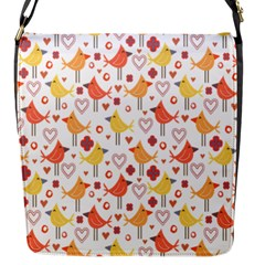Happy Birds Seamless Pattern Animal Birds Pattern Flap Messenger Bag (s) by Nexatart