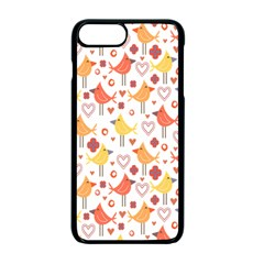 Happy Birds Seamless Pattern Animal Birds Pattern Apple iPhone 7 Plus Seamless Case (Black)