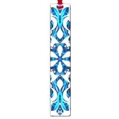 Blue Snowflake On Black Background Large Book Marks by Nexatart
