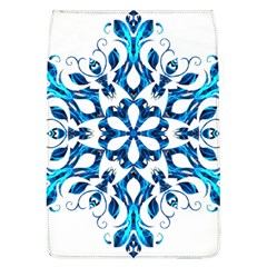 Blue Snowflake On Black Background Flap Covers (l)