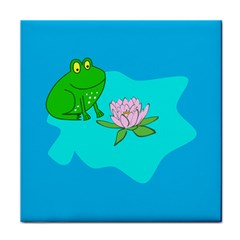 Frog Flower Lilypad Lily Pad Water Tile Coasters