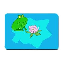 Frog Flower Lilypad Lily Pad Water Small Doormat