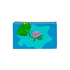 Frog Flower Lilypad Lily Pad Water Cosmetic Bag (small)  by Nexatart