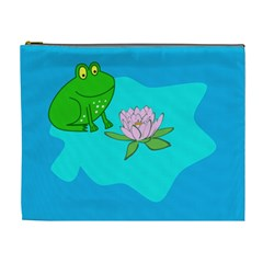 Frog Flower Lilypad Lily Pad Water Cosmetic Bag (xl)