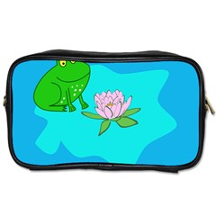 Frog Flower Lilypad Lily Pad Water Toiletries Bags 2 Side by Nexatart