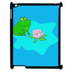 Frog Flower Lilypad Lily Pad Water Apple Ipad 2 Case (black) by Nexatart