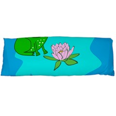 Frog Flower Lilypad Lily Pad Water Body Pillow Case Dakimakura (two Sides)