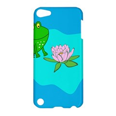 Frog Flower Lilypad Lily Pad Water Apple Ipod Touch 5 Hardshell Case