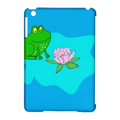 Frog Flower Lilypad Lily Pad Water Apple Ipad Mini Hardshell Case (compatible With Smart Cover)