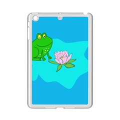 Frog Flower Lilypad Lily Pad Water Ipad Mini 2 Enamel Coated Cases by Nexatart