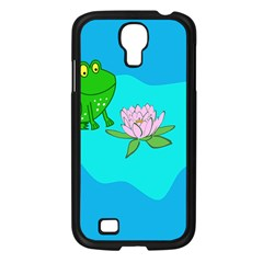 Frog Flower Lilypad Lily Pad Water Samsung Galaxy S4 I9500/ I9505 Case (black) by Nexatart