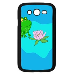 Frog Flower Lilypad Lily Pad Water Samsung Galaxy Grand Duos I9082 Case (black)