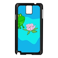 Frog Flower Lilypad Lily Pad Water Samsung Galaxy Note 3 N9005 Case (black)