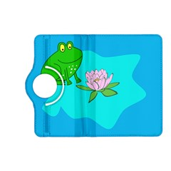 Frog Flower Lilypad Lily Pad Water Kindle Fire Hd (2013) Flip 360 Case by Nexatart