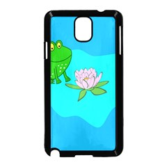 Frog Flower Lilypad Lily Pad Water Samsung Galaxy Note 3 Neo Hardshell Case (black)
