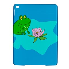 Frog Flower Lilypad Lily Pad Water Ipad Air 2 Hardshell Cases by Nexatart