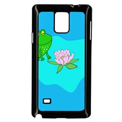 Frog Flower Lilypad Lily Pad Water Samsung Galaxy Note 4 Case (black)