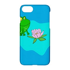 Frog Flower Lilypad Lily Pad Water Apple Iphone 7 Hardshell Case by Nexatart