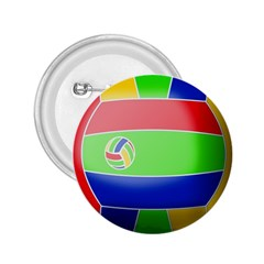 Balloon Volleyball Ball Sport 2 25  Buttons by Nexatart