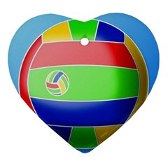 Balloon Volleyball Ball Sport Ornament (heart) by Nexatart