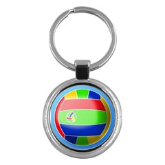 Balloon Volleyball Ball Sport Key Chains (round)