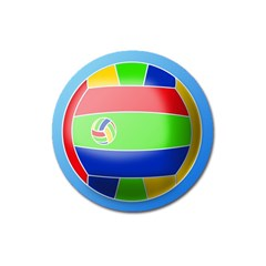 Balloon Volleyball Ball Sport Magnet 3  (round) by Nexatart