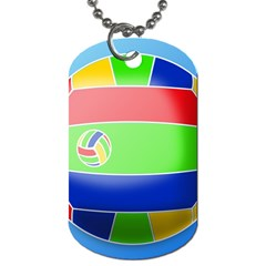 Balloon Volleyball Ball Sport Dog Tag (two Sides)