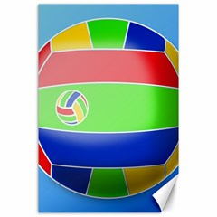 Balloon Volleyball Ball Sport Canvas 24  X 36