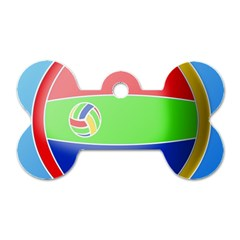 Balloon Volleyball Ball Sport Dog Tag Bone (two Sides)