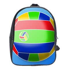 Balloon Volleyball Ball Sport School Bags(large)  by Nexatart