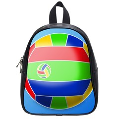 Balloon Volleyball Ball Sport School Bags (small)  by Nexatart