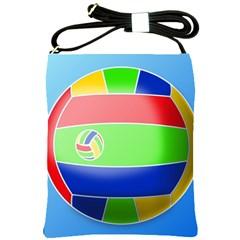 Balloon Volleyball Ball Sport Shoulder Sling Bags by Nexatart