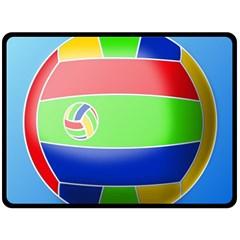 Balloon Volleyball Ball Sport Fleece Blanket (large)  by Nexatart