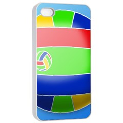 Balloon Volleyball Ball Sport Apple Iphone 4/4s Seamless Case (white)