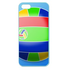 Balloon Volleyball Ball Sport Apple Seamless Iphone 5 Case (color)