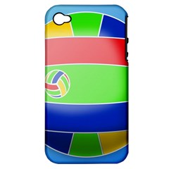 Balloon Volleyball Ball Sport Apple Iphone 4/4s Hardshell Case (pc+silicone) by Nexatart