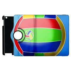 Balloon Volleyball Ball Sport Apple Ipad 2 Flip 360 Case by Nexatart